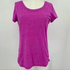 Athletic Works Purple Short Sleeve Workout Top